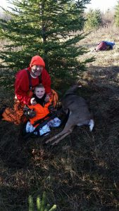 Member Scott G. and his grandson Logan G with his first doe. 2017 deer season